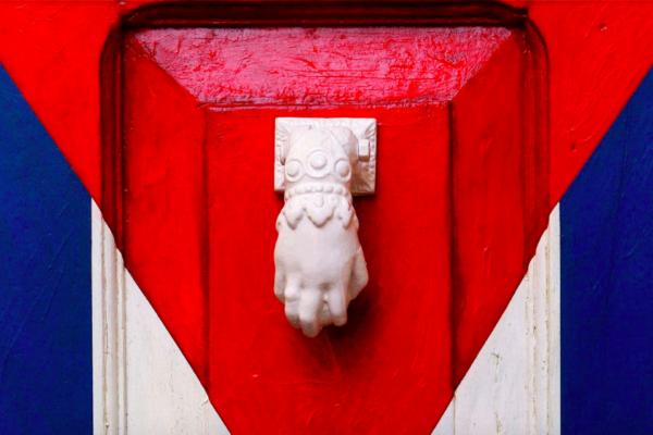 cuba flag door