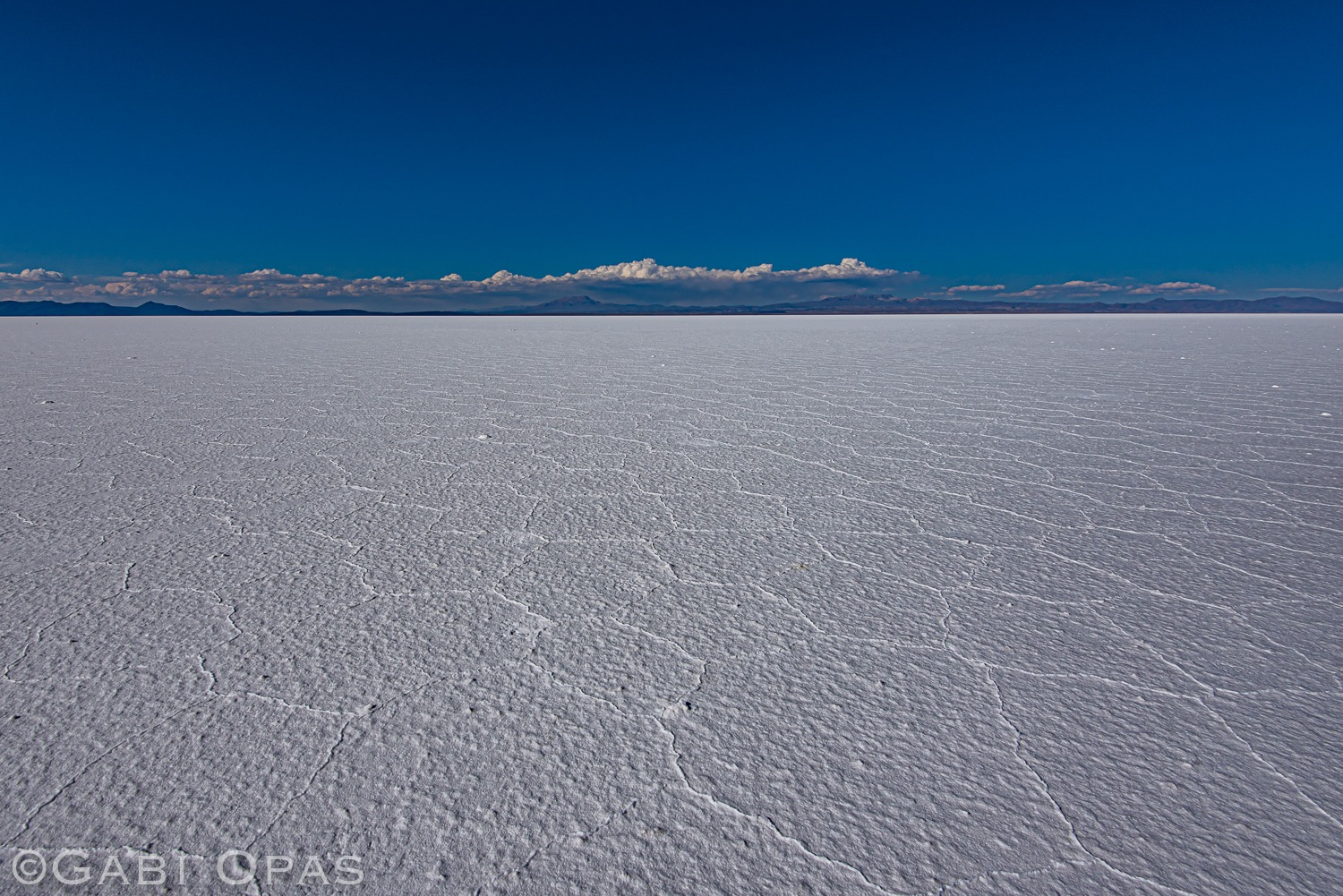 Landscape where you can see salt flats