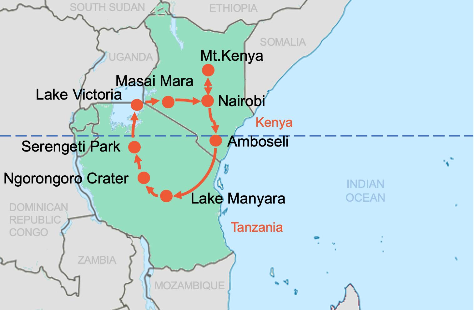 Colibri-Kenya and Tanzania
